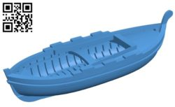 Gozzo ship B004707file stl free download 3D Model for CNC and 3d printer