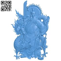Guanhong and dragon A003549 wood carving file stl for Artcam and Aspire free art 3d model download for CNC