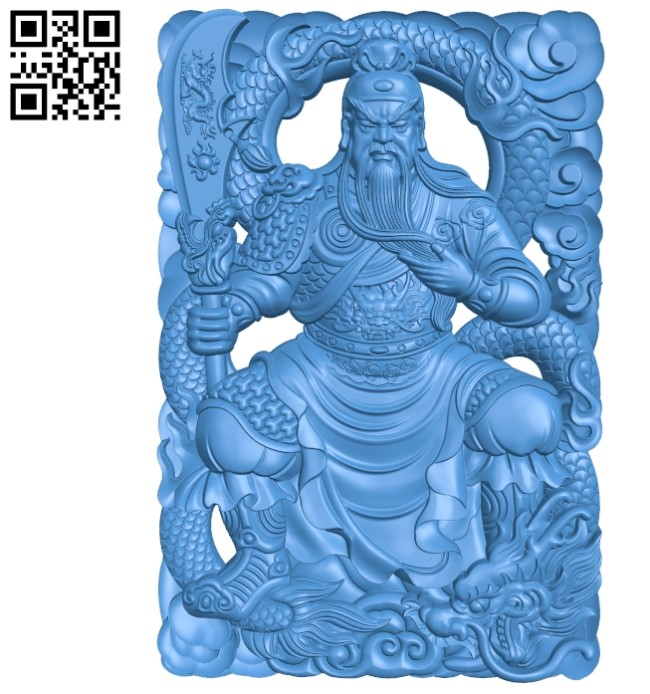 Guanhong and dragon A003550 wood carving file stl for Artcam and Aspire free art 3d model download for CNC