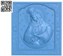 Ikona Ostrobramska A003358 wood carving file stl for Artcam and Aspire free art 3d model download for CNC