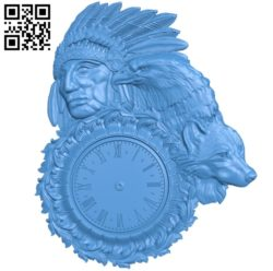 Indian wall clock A003568 wood carving file stl for Artcam and Aspire free art 3d model download for CNC