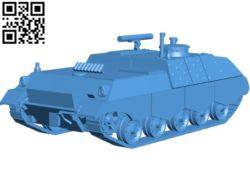 Jaguar tank B004712 file stl free download 3D Model for CNC and 3d printer