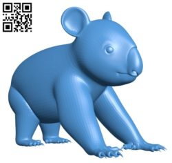 Koala figure B004706 file stl free download 3D Model for CNC and 3d printer