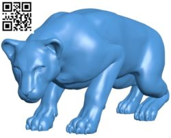 Lioness B004776 file stl free download 3D Model for CNC and 3d printer