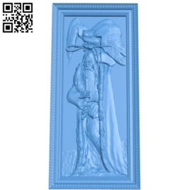 Man with an owl A003548 wood carving file stl for Artcam and Aspire free art 3d model download for CNC