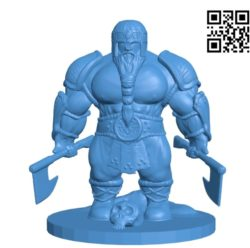 Man with the axs B004646 file stl free download 3D Model for CNC and 3d printer
