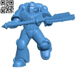 Marine with axe B004715 file stl free download 3D Model for CNC and 3d printer