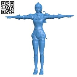 Miss Casca B004821 file stl free download 3D Model for CNC and 3d printer