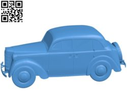 Moskvich 400 car B004719 file stl free download 3D Model for CNC and 3d printer