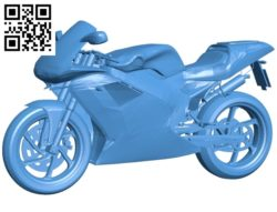 Motorcycle B004814 file stl free download 3D Model for CNC and 3d printer