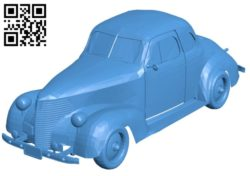 Old chevy car B004664 file stl free download 3D Model for CNC and 3d printer