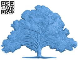 Old oak tree A003399 wood carving file stl for Artcam and Aspire free art 3d model download for CNC