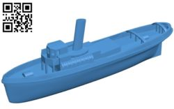 Old tug ship B004735 file stl free download 3D Model for CNC and 3d printer