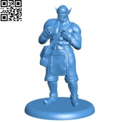 Orc Monk man B004691 file stl free download 3D Model for CNC and 3d printer