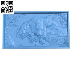 Painting Tiger on the cliff A003460 wood carving file stl for Artcam and Aspire free art 3d model download for CNC
