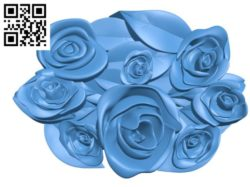 Pattern Bunch of roses A003301 wood carving file stl for Artcam and Aspire jdpaint free vector art 3d model download for CNC