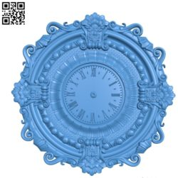 Pattern Wall clock A003556 wood carving file stl for Artcam and Aspire free art 3d model download for CNC