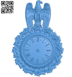 Pattern Wall clock A003559 wood carving file stl for Artcam and Aspire free art 3d model download for CNC