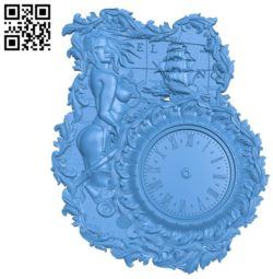 Pattern Wall clock A003570 wood carving file stl for Artcam and Aspire free art 3d model download for CNC