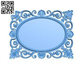 Pattern design oval frame A003353 wood carving file stl for Artcam and Aspire jdpaint free vector art 3d model download for CNC