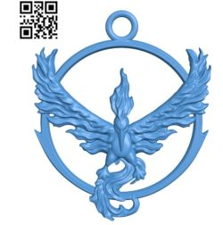 Pendant Phoenix A003456 wood carving file stl for Artcam and Aspire free art 3d model download for CNC