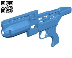 Pulse SMG Gun B004460 file stl free download 3D Model for CNC and 3d printer