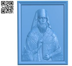 Religious picture A003314 wood carving file stl for Artcam and Aspire jdpaint free vector art 3d model download for CNC