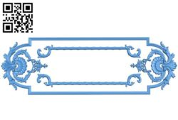 Room number plate frame  A003340 wood carving file stl for Artcam and Aspire jdpaint free vector art 3d model download for CNC