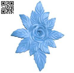 Rose design A003621 wood carving file stl for Artcam and Aspire free art 3d model download for CNC