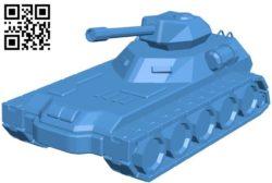 Sci-fi tank B004549 file stl free download 3D Model for CNC and 3d printer