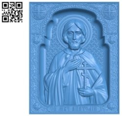 St. Martyr Anatoly A003346 wood carving file stl for Artcam and Aspire jdpaint free vector art 3d model download for CNC