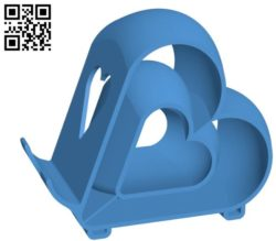 Stand for phone tablet B004523 file stl free download 3D Model for CNC and 3d printer