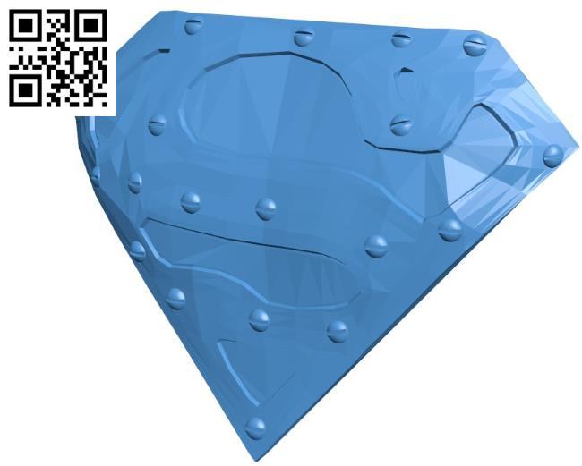 Super man logo B004511 file stl free download 3D Model for CNC and 3d printer