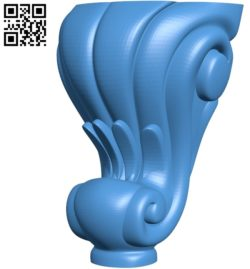 Table legs and chairs A003489 wood carving file stl for Artcam and Aspire free art 3d model download for CNC