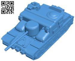 Tank AT-15A B004433 file stl free download 3D Model for CNC and 3d printer