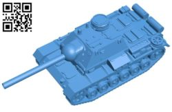 Tank SU-85I B004525 file stl free download 3D Model for CNC and 3d printer