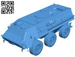 Tank TPZ fuchs B004469 file stl free download 3D Model for CNC and 3d printer