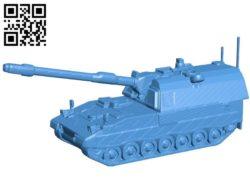 Tank pzh 2000 B004575 file stl free download 3D Model for CNC and 3d printer