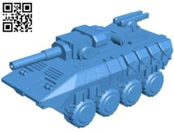 Tank thorav B004495 file stl free download 3D Model for CNC and 3d printer