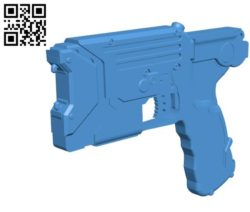 Taser Gun B004503 file stl free download 3D Model for CNC and 3d printer