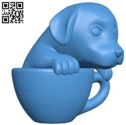 Tea cup Gold Ret Dog B004501 file stl free download 3D Model for CNC and 3d printer