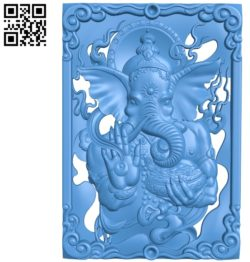 The elephant god Ganesha A003462 wood carving file stl for Artcam and Aspire free art 3d model download for CNC