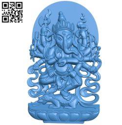 The elephant god Ganesha A003544 wood carving file stl for Artcam and Aspire free art 3d model download for CNC