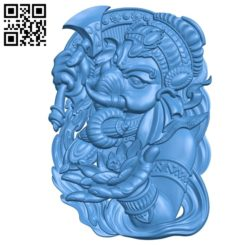 The elephant god Ganesha A003545 wood carving file stl for Artcam and Aspire free art 3d model download for CNC