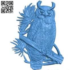 The owl bird cat A003362 wood carving file stl for Artcam and Aspire free art 3d model download for CNC