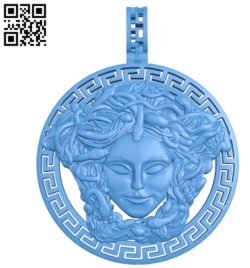 The pendant is a snake goddess A003372 wood carving file stl for Artcam and Aspire free art 3d model download for CNC