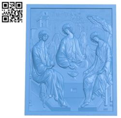 The picture of the three angels A003612 wood carving file stl for Artcam and Aspire free art 3d model download for CNC