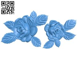 The roses A003395 wood carving file stl for Artcam and Aspire free art 3d model download for CNC
