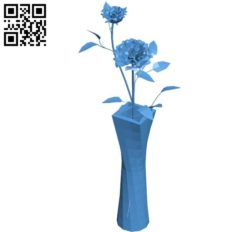 The vase of roses B004557 file stl free download 3D Model for CNC and 3d printer