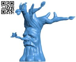 Tree Man Head B004467 file stl free download 3D Model for CNC and 3d printer